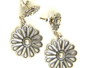 Stud Earrings 925 Sterling Silver Artisan Filigree, Women Jewlery - ID1098