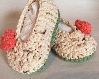 Crocheted Baby Slippers, Booties, Shoes