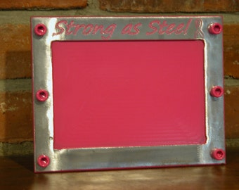 Strong as Steel awareness 4x6 picture frame