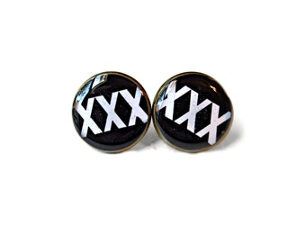 XXX Stud Earrings - Straight Edge Pop Culture Jewelry