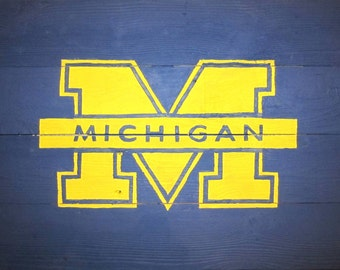 Michigan University Rustic Sign