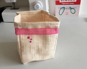 All beige tote bag