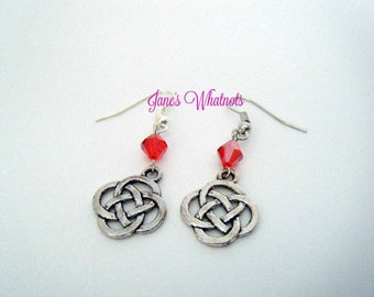 Celtic Knot Earrings - Silver - E531