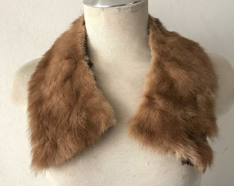 Vintage mink fur collar , retro mink collar , dress collar size universal .