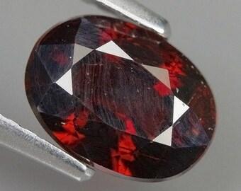 2.38 Ct Natural Africa Dark Red SPESSARTINE GARNET