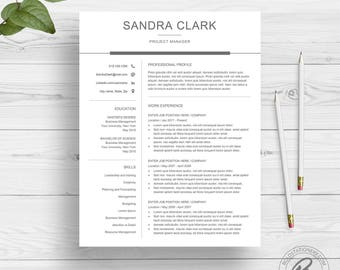Modern Resume Template for Word | Clean Resume Design | Two Page Resume Download | Simple Resume Template | CV Template for Word