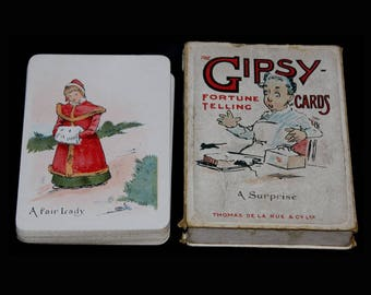 Gipsy Fortune Telling Cards. Thomas de la Rue & Co Ltd c.1910.  De La Rue Gipsy Fortune Telling Cards. Antique Fortune Cards. Fortune Cards.
