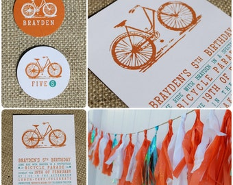 Vintage Bicycle. Printable Design Collection. Pinkadot Shop