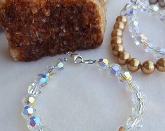 Swarovski 8mm round crystal bracelet, Stunning!