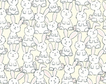 Bunny Fabric, Easter Fabric, Babes in Farmland Gail C3124, Timeless Treasures, Easter Bunny Quilt Fabric, Rabbit Fabric, Cotton