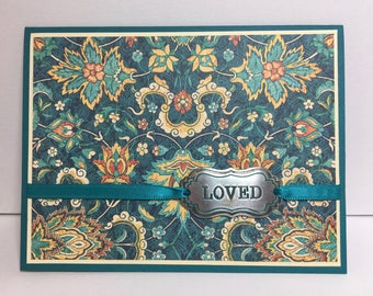 Love Card, Romantic Card, Handmade Card