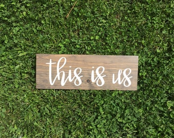 Family Sign, Family Decor, This is us, This is us sign, This is us wood sign, Gallery Wall Sign, Rustic sign, wood sign, farmhouse sign