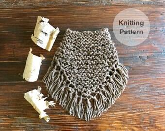 Birch Bandana Scarf Knitting Pattern