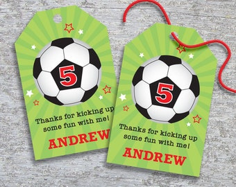 Personalized Soccer Party Favor Tags – DIY Printable – Hang Tags (Digital File)
