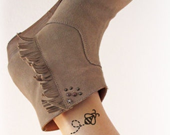 Bee - Temporary tattoo (Set of 2)