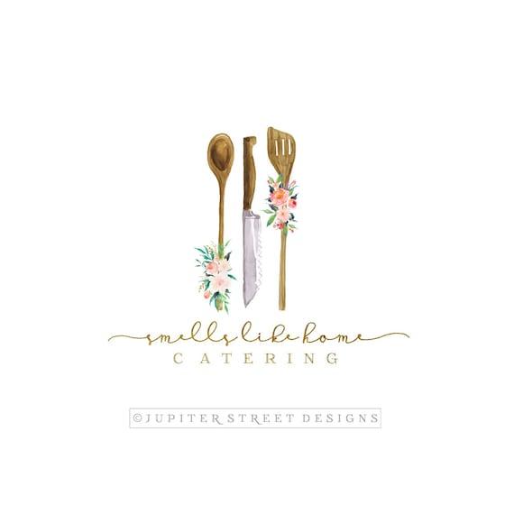 Kitchen Logo-Catering Logo-Utensil Logo-Flower Logo-Food