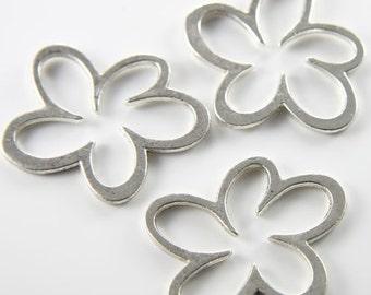 4pcs oxydé Base métal liens-fleur 45x37mm (grand) (9061Y-H-164 a)