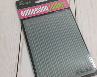 The Paper Studio Embossing Folder A-2 Stripes