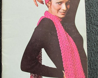 PB96 Coats Clarks 1970 Book No 205 Old and New Favourites to Knit and Crochet Craft Book Bikini