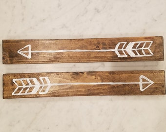 Painted Arrows on Walnut Boards