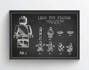 1979  Lego Patent Poster, Lego Poster, Lego Print, Lego Decor, Wall Art, Home Decor, GT06P
