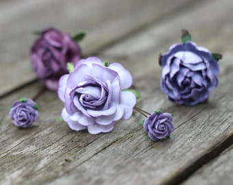 Flower Hair Pins, Flower Bobby Pins, Purple, Plum, Lilac, Flower Hair Pins Bridal, Hair Picks, Floral Bobby Pin ,Rose Bridal, Hair Pins Prom