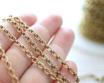 6x3.5mm brass antique gold ladder chain, brass chain, antique brass chain, gold chain, cable ladder chain, brass necklace chain, foot chain