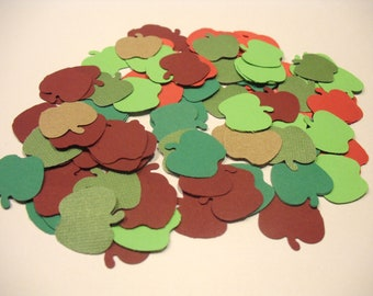 APPLES AUTUMN FALL 100 Pieces Embellishments Punchies or Confetti