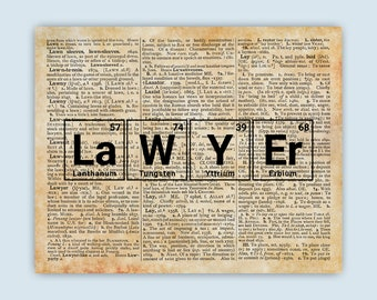 Periodic table word etsy periodic table lawyer art words made from elements periodic table dictionary page art urtaz Images