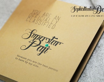 Superstar PAJI (Brother) Greeting card