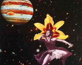 THE BUTTERFLY EFFECT--African American Collage Art--Print