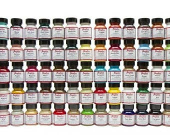 Angelus Acrylic Leather Paint 1 oz All Colors Great For Leather Boots Shoes Handbags Skeakers Paint Art