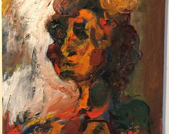 Abstract Portrait Woman Life and Death Oil Painting