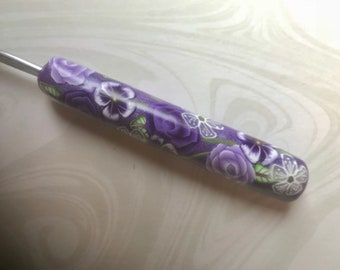 Crochet Hook, Polymer Clay