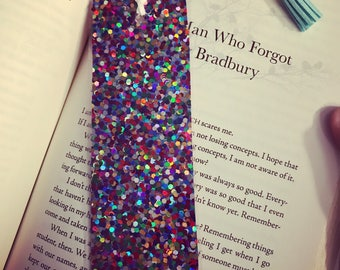 Glitter laminated bookmark