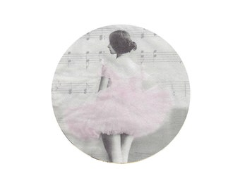 Paper napkin for decoupage, mixed media, collage, scrapbooking x 1. Ballerina. No 1259