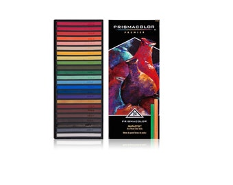 24 Colored Pastels Sketch, Drawing Kit, Prismacolor Nupastel Drawing Kit, Pastel Set, Kit