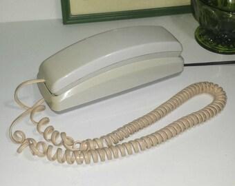 GE Vintage botón teléfono / la década de 1990 Beige teléfono teléfono de escritorio Vintage de la década de 1990 o en la pared para oficina o negocio