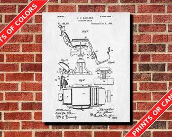 Barber pole patent print barber poster blueprint art barber barbers chair patent print barber poster blueprint art hairdresser gift hairdressing salon decor malvernweather Images