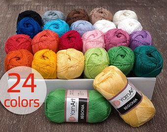 Cotton Knitting Yarn Australia : Cotton yarns colours granny kit ready to ship by