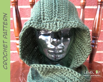 Sarcastic Archer hooded cowl CROCHET PATTERN || Child, Adult || Instant Download