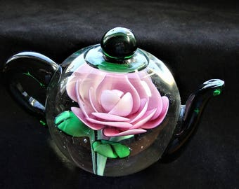Dynasty Teapot Green Paperweight Free Shipping