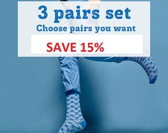 Make your set by yourself. Choose three pairs you want.