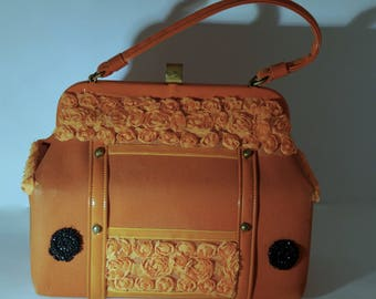 "Vintage handbag ""exquise orange"""
