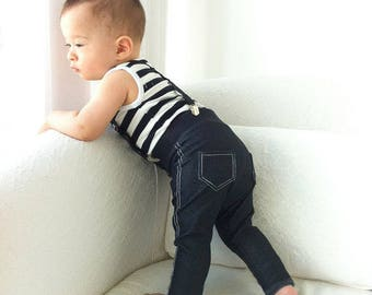 Dark Wash Stretchy Baby Boy Jeans, Baby Boy Pants, Toddler Jeans, Hipster Baby Leggings, Infant Jeans, Baby Skinny Jeans, Newborn Boy Jeans
