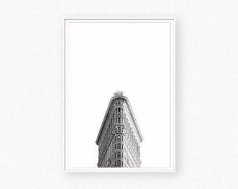 New York Print, New York Photography,  Black and White Photography, Skyscraper, Artwork