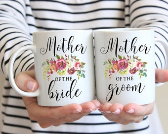 Wedding Mug Set, Mother of the Bride and Groom Mug, Wedding Mug Set, Thank You Gift, Mother Wedding Gift, Mom of the Groom, Mom Wedding Gift