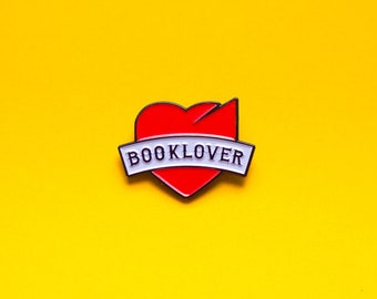Book Lover Enamel Pin | |Gift for book nerds, geeks & readers | Bookish pins | Book-related enamel pin