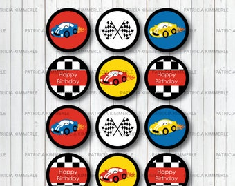 Printable Cupcake Toppers, Cars, Race Car Party,Racing Club,Car Race, Motorsports, Race Car Driver, Birthday, Decorations, INSTANT DOWNLOAD