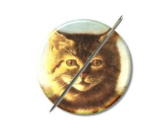 Chaton chats victorien à l'aiguille minder aimant Croix Couture Couture outil couture notion femme cadeau moins de 10 ans les amoureux des chats stuffer de bas